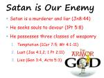satan is our enemy