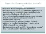 intercultural communication research