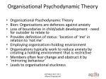 organisational psychodynamic theory