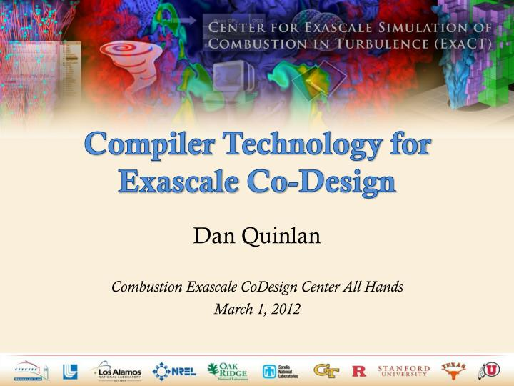 compiler technology for exascale co design n.