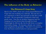 the influence of the body on behavior