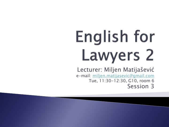 english for lawyers 2 n.
