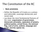 the constitution of the rc1
