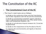 the constitution of the rc6