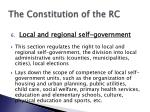 the constitution of the rc7