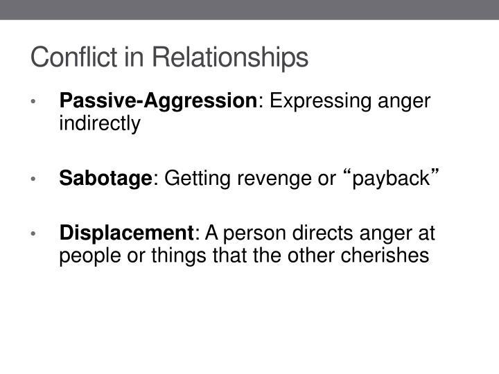 Conflict in Relationships
