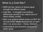 what is a cold war