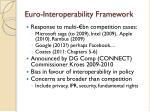 euro interoperability framework