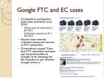 google ftc and ec cases