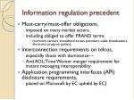 information regulation precedent