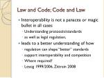 law and code code and law