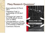 many r esearch questions