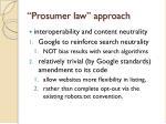 prosumer law approach