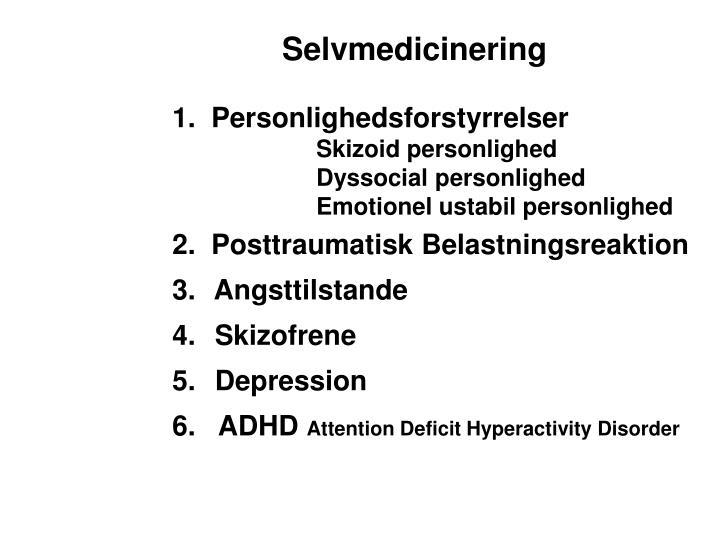 Selvmedicinering