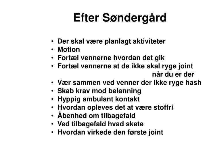 Efter Søndergård
