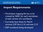 import requirements