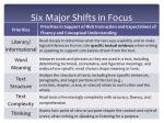 six major shifts in focus