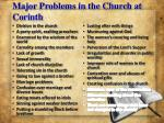 major problems in the church at corinth