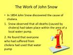 the work of john snow