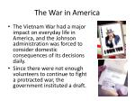 the war in america