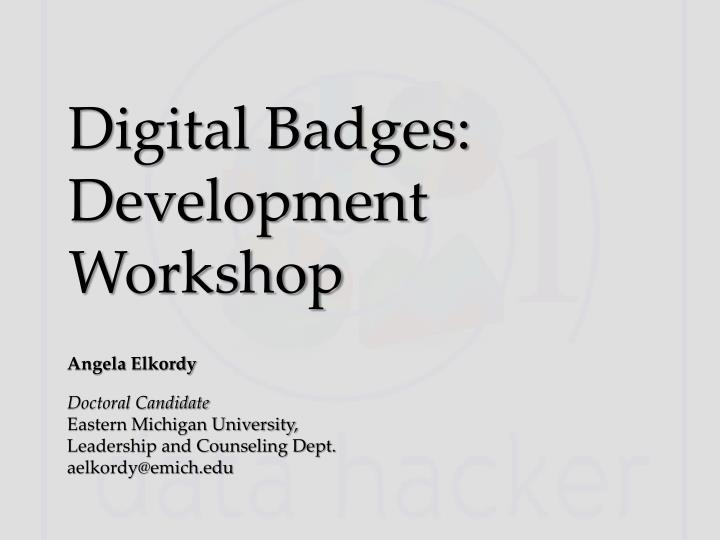 digital badges development workshop n.