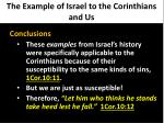 the example of israel to the corinthians and us5