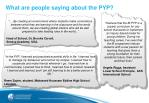 what are people saying about the pyp