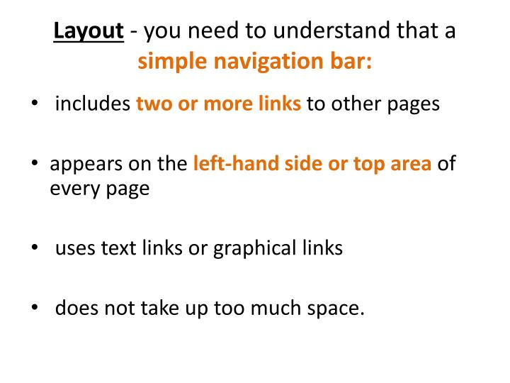 layout you need to understand that a simple navigation bar n.