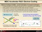meic accelerator r d electron cooling