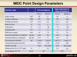 meic point design parameters