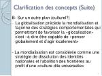clarification des concepts suite