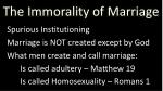 the immorality of marriage5