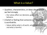 what is a value