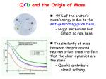 q c d and the origin of mass