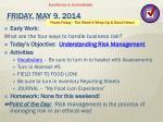 friday may 9 2014
