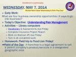 wednesday may 7 2014