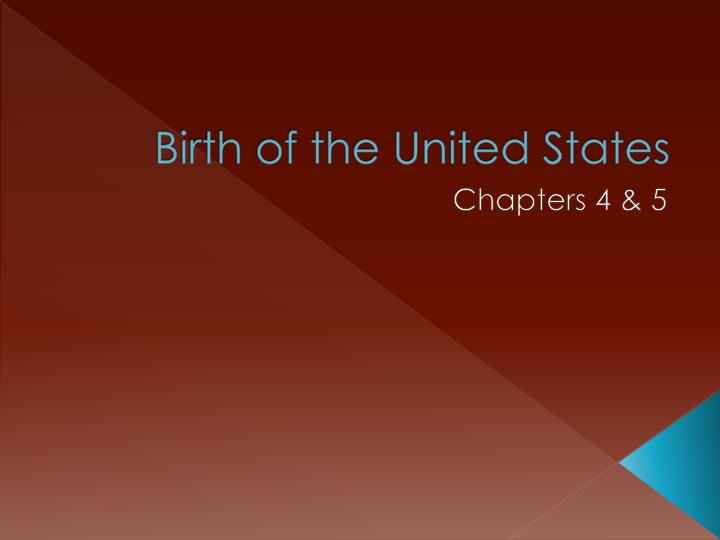birth of the united states n.