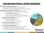 lean solutions for mu patient engagement1