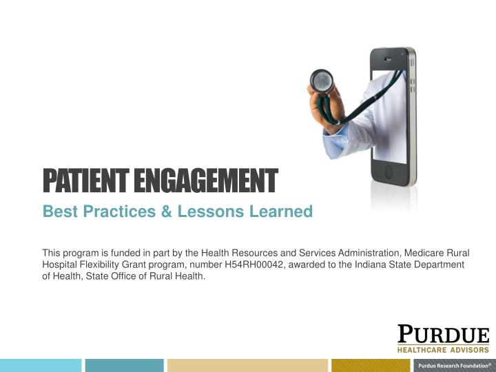 patient engagement n.