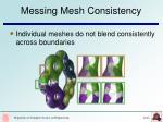 messing mesh consistency