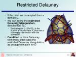 restricted delaunay