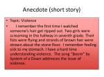 anecdote short story