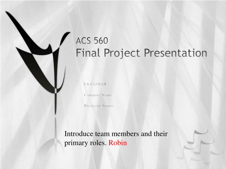 acs 560 final project presentation n.