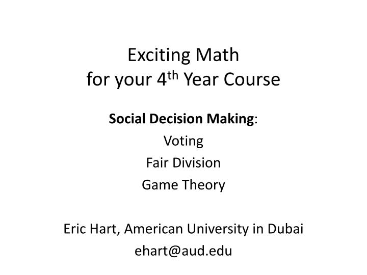 exciting math for y our 4 th year course n.