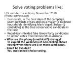 solve voting problems like