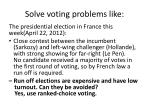 solve voting problems like1