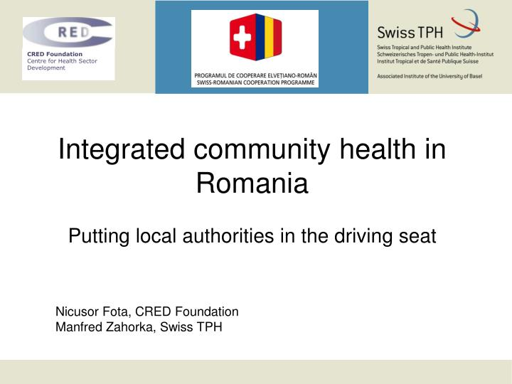 integrated community health in romania putting local authorities in the driving seat n.