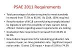 psae 2011 requirements