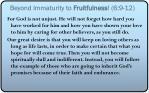 beyond immaturity to fruitfulness 6 9 121