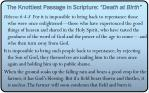 the knottiest passage in scripture death at birth